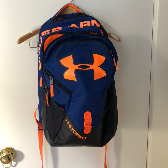 Under Armour Storm 1 Orange   Blue Backpack. M 5ac4c78d05f430bad0452020 74c67d4dc2012